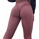 זול ביגוד כושר, ריצה ויוגה-בגדי ריקוד נשים מותניים גבוהים מכנסי יוגה סרוג רוט באט אופנתי שחור אפור לבן כחול סקיי סגול ספנדקס ריצה כושר וספורט כושר אמון טייץ רכיבה על אופניים חותלות ספורט לבוש אקטיבי פוש-אפ בקרת בטן גמישות גבוהה