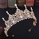 cheap Party Headpieces-Alloy Tiaras / Headpiece with Crystal / Metal 1 Piece Wedding / Birthday Headpiece