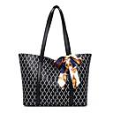 ราคาถูก กระเป๋า Totes-สำหรับผู้หญิง แพทเทิร์นหรือลายพิมพ์ PU กระเป๋าถือยอดนิยม พิมพ์ดอกไม้ สีดำ / ฤดูใบไม้ร่วง & ฤดูหนาว
