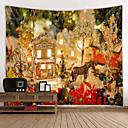 billige Wall Tapestries-Jul / Klassisk Tema Veggdekor 100% Polyester Klassisk / Moderne Veggkunst, Veggtepper Dekorasjon