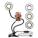 billige Kameralys, studio & tilbehør-selfie ringlys med mobiltelefon holder selfie ring lys for live stream telefon klips holder justerbar skrivebordslampe sminkelys