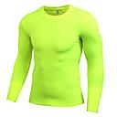 Χαμηλού Κόστους Ρούχα τρεξίματος-Ανδρικά Στρογγυλή Ψηλή Λαιμόκοψη Tricou de Alergat Μαύρο Γκρίζο Λευκό Κίτρινο Πράσινο Τρέξιμο Fitness Γυμναστήριο προπόνηση Εσώρουχα Μπλούζα συμπίεσης Μακρυμάνικο Αθλητισμός Ρούχα Γυμναστικής