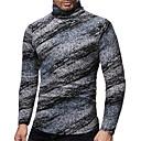 Χαμηλού Κόστους Αντρικά Κολιέ-Ανδρικά T-shirt Βασικό / Κομψό Φλοράλ / Συνδυασμός Χρωμάτων Γκρίζο
