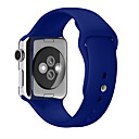 billige Smartwatch Bands-mykt silikon sportband for apple watch serie 5 4 3 2 1 for iwatch band 42mm 38mm 40mm 44mm armbånd armbånd