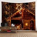 ราคาถูก ภาพจิตรกรรมฝาผนัง-Christmas / ธีมคลาสสิก ตกแต่งผนัง 100% โพลีเอสเตอร์ คลาสสิก / ที่ทันสมัย ศิลปะผนัง, ผนังสิ่งทอ เครื่องประดับ