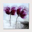 olcso Virág festmények-Hang festett olajfestmény Kézzel festett - Absztrakt Virágos / Botanikus Modern Tartalmazza belső keret