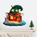 Χαμηλού Κόστους Christmas Stickers-Διακοσμητικά αυτοκόλλητα τοίχου - Animal αυτοκόλλητα τοίχου / Διακοπών Αυτοκόλλητα Τοίχου Ζώα / Χριστούγεννα Σαλόνι / Υπνοδωμάτιο / Κουζίνα / Αφαιρούμενο / Επανατοποθετείται