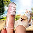 billige Hundepleiemateriell-Hunder Katter Børster Full Body Silicone Rengjøring av hunder Myk Kæledyr Pleieutstyr Gjennomsiktig 10-pack