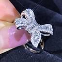 ราคาถูก แหวน-สำหรับผู้หญิง แหวน 1pc สีเงิน Platinum Plated โลหะผสม งานแต่งงาน ของขวัญ เครื่องประดับ น่ารัก