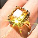 billige Statement Ringe-Dame Ring 1pc Gull Gullbelagt Geometrisk Form Stilfull Fest Daglig Smykker Klassisk Blomst Kul