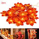 Χαμηλού Κόστους Τροφοδοτικό-2pcs φώτα σειρά νεράιδα 3m 20 leds σφενδάμου φύλλα ελαφριά μπαταρία που λειτουργούν για υπαίθρια σπίτι χριστουγεννιάτικο πάρτι διακόσμηση