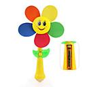 billiga Babyleksaker-barnens trä väderkvarn leksak montering tecknade clowner