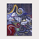 voordelige Abstracte schilderijen-Hang-geschilderd olieverfschilderij Handgeschilderde - Abstract Mensen Modern Zonder Inner Frame