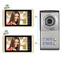 olcso Videó kaputelefonok-vezetékes&vezeték nélküli, 7 hüvelykes, kihangosító, 1024 * 600 pixel, egy-egy videó ajtótelefon