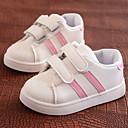 ราคาถูก รองเท้าผ้าใบเด็ก-เด็กผู้ชาย / เด็กผู้หญิง ความสะดวกสบาย PU รองเท้าส้นเตี้ย เด็กน้อย (4-7ys) แดง / ฟ้า / สีชมพู ตก