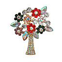 cheap Religious Jewelry-Women's Brooches Classic Christmas Tree Classic Casual / Sporty Ethnic Folk Style Brooch Jewelry Gold / Pink Gold Silver For Christmas Party Gift