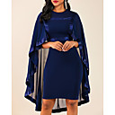 cheap Lingerie-Women's Plus Size Cocktail Party For Mother / Mom Sheath Dress - Solid Colored Crew Neck Black Wine Navy Blue S M L XL