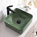 ราคาถูก อ่างล้างมือ-อ่างล้างหน้า ร่วมสมัย - แก้ว Square Vessel Sink
