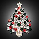 povoljno Religijski nakit-Žene Broševi 3D Božićno drvce Moda Pozlaćeni Broš Jewelry Duga Za Božić Party Festival