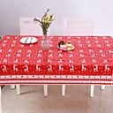 olcso Karácsonyi dekoráció-eldobható boldog karácsonyt téglalap alakú nyomtatott pvc rajzfilm terítő 120 * 180cm