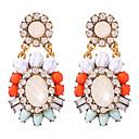 povoljno Modne naušnice-Žene Viseće naušnice Retro dragocjen Stilski Vintage Smola Naušnice Jewelry Duga Za Praznik 1 par