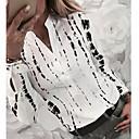 billige Softshell, fleece og turjakker-V-hals Skjorte Dame - Geometrisk Hvit