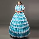Χαμηλού Κόστους Μαγνητικά τουβλάκια-Παραμυθιού Victorian Αναγέννησης 18ος αιώνας Φορέματα Σύνολα Κοστούμι πάρτι Χορός μεταμφιεσμένων Γυναικεία Δαντέλα Στολές Λευκό / Μπλε Πεπαλαιωμένο Cosplay Πάρτι Χοροεσπερίδα 3/4 Μήκος Μανικιού