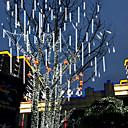 Χαμηλού Κόστους Διακοσμητικά Γάμου-30cm 100-240v υπαίθρια βροχή βροχής μετεωριτών 8 σωλήνες οδήγησε φώτα σειράς αδιάβροχο για χριστουγεννιάτικη διακόσμηση κόμμα γάμου