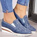 povoljno Satovi-narukvice-Žene Sneakers Ravna potpetica Okrugli Toe Brušena koža Jesen zima Plava / Pink / Sive boje