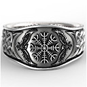 Χαμηλού Κόστους Αντρικά Δαχτυλίδια-Ανδρικά Δαχτυλίδι 1pc Ασημί Geometric Shape Βίντατζ Καθημερινά Αργίες Κοσμήματα Γεωμετρική Λουλούδι Απίθανο