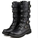 povoljno Muške čizme-Muškarci Udobne cipele PU Jesen zima Čizme Čizme do pola lista Crn