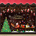 Χαμηλού Κόστους Christmas Stickers-Διακοσμητικά αυτοκόλλητα τοίχου - Αεροπλάνα Αυτοκόλλητα Τοίχου Χριστούγεννα Υπνοδωμάτιο / Τραπεζαρία