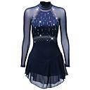Χαμηλού Κόστους Φόρεμα για παγοδρομία-Φόρεμα για φιγούρες πατινάζ Γυναικεία Κοριτσίστικα Patinaj Φορέματα Μαύρο Λευκό Ουρανί Spandex Ελαστικό Νήμα Ενδυμασία πατινάζ Γρήγορο Στέγνωμα Ανατομικός Σχεδιασμός Χειροποίητο Κλασσικά Μακρυμάνικο