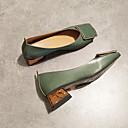 billige Flate sko til damer-Dame Flate sko Flat hæl Rund Tå PU Sommer Hvit / Grønn / Rosa