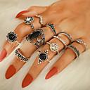 billige Maskaraer-Dame Ring Ring Set 12pcs Sølv Strass Legering Annerledes Vintage trendy Mote Daglig Gate Smykker Vintage Stil Krone Pære