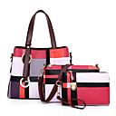 povoljno Tote torbe-Žene Uzorak / print PU Bag Setovi Color block 3 kom Braon / Blushing Pink / Plava