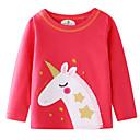 Χαμηλού Κόστους Μπλουζάκια για κορίτσια-Παιδιά Κοριτσίστικα Βασικό Στάμπα Μακρυμάνικο Πουλόβερ & Ζακέτα Ρουμπίνι