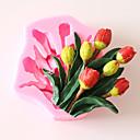 olcso Sütő és cukrászeszközök-1db tulipán virág alakú fondant formák szilikagél 3d szilikon forma diy többfunkciós edények party állati torta formák sütőipari eszközök