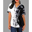 povoljno Apstraktno slikarstvo-Bluza Žene - Ulični šik Dnevni Nosite Cvjetni print V izrez Crn