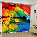 Χαμηλού Κόστους 3D κουρτίνες-χρώμα φτερό ψηφιακή εκτύπωση 3d κουρτίνα σκίαση κουρτίνα υψηλής ακρίβειας μαύρο μεταξωτό ύφασμα υψηλής ποιότητας κουρτίνα