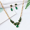 billiga Jewelry Set-Dam Syntetisk Smaragd Halsband Örhänge Mode Elegant örhängen Smycken Guld Till Party Dagligen 1set