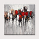 povoljno Apstraktno slikarstvo-Hang oslikana uljanim bojama Ručno oslikana - Sažetak Cvjetni / Botanički Moderna Bez unutrašnje Frame
