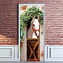 baratos Adesivos de Parede-eanpet 3d adesivo de porta murais adesivos adesivo de parede para decoração de casa quarto porta da frente decoração