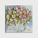 billige Blomster-/botaniske malerier-Hang malte oljemaleri Håndmalte - Blomstret / Botanisk Moderne Inkluder indre ramme