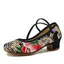 Χαμηλού Κόστους Ημέρα επιστροφής στο σπίτι-Γυναικεία Μοντέρνα παπούτσια / Αίθουσα χορού Πανί Τακούνια Επίπεδο Τακούνι Παπούτσια Χορού Μαύρο / Εξάσκηση