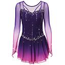 Χαμηλού Κόστους Φόρεμα για παγοδρομία-Φόρεμα για φιγούρες πατινάζ Γυναικεία Κοριτσίστικα Patinaj Φορέματα Μαύρο Βαθύ μπλε Σκούρο-Γκρι Open Back Spandex Ελαστικό Νήμα Υψηλή Ελαστικότητα Εκπαίδευση Ανταγωνισμός Ενδυμασία πατινάζ Χειροποίητο