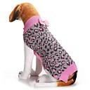 billiga Hundkläder-Hund Tröjor Vinter Hundkläder Rosa Kostym Corgi Beagle Shiba Inu Akrylik Fiber Leopard Rosett Rosett Minimalistisk Stil XXS XS S M L XL