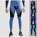 povoljno Odjeća za fitness, trčanje i jogu-Muškarci Futónadrág Kolaž Elastan Sportski Donje rublje Tajice Kompresijske hlače Trčanje Fitness Trening u teretani vježba Prozračnost Ovlaživanje Quick dry Moda Navy Plava Siva Peacock Blue