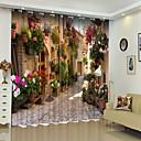 olcso 3D függönyök-európai stílusú városi virág digitális nyomtatás 3d függöny árnyékoló függöny nagy pontosságú fekete selyem anyagból kiváló minőségű függöny