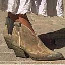 billige Mote Boots-Dame Støvler Tykk hæl Rund Tå Semsket lær Ankelstøvler Høst vinter Svart / Mandel / Lilla